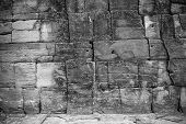 stock photo of wall-stone  - The abstract background from sand stone wall texture in black and white - JPG