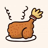 image of high calorie foods  - Fast Food Freid Chicken Flat Icon Elements - JPG