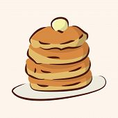 image of high calorie foods  - Fast Food Pancake Flat Icon Elements - JPG