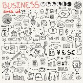 stock photo of freehand drawing  - Set of business icons made in fun doodle way - JPG
