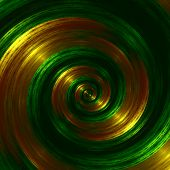 picture of hypnotizing  - Artistic green fractal spiral - JPG