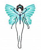 image of kundalini  - woman with wings  - JPG