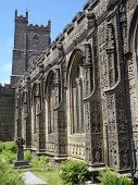 stock photo of church mary magdalene  - St Mary Magdalene church photographed at Launceston in Cornwall - JPG