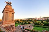 picture of world war one  - Union Buildings Pretoria South Africa at sunset - JPG