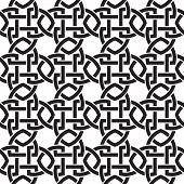image of celtic  - Chain mail of the links in form of crosswise shields - JPG