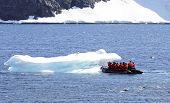 Tourists viewing Iceberg