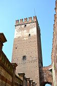 picture of juliet  - Verona, an ancient castle on the river - Italy