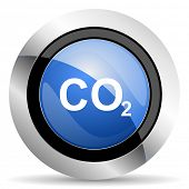 stock photo of carbon-dioxide  - carbon dioxide icon co2 sign original modern design for web and mobile app on white background  - JPG