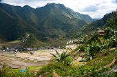 picture of luzon  - beautiful mountains with rice plantations in the mountains of the Philippine Islands - JPG