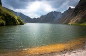 image of volcanic  - a beautiful volcanic lake in the crater of mount Pinatubo on the island of luson Philippines the largest known eruption in the 20th century  - JPG