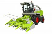 foto of threshing  - Agricultural harvester isolated on a white background - JPG