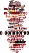 stock photo of electronic commerce  - Electronic commerce word cloud concept - JPG