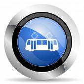 foto of tram  - tram icon public transport sign original modern design for web and mobile app on white background  - JPG