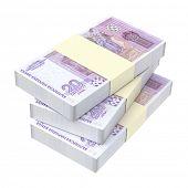 image of bundle money  - Bulgarian money isolated on white background - JPG