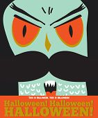foto of evil  - Bright trick or treat card in vector - JPG