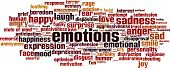 stock photo of ecstacy  - Emotions word cloud concept - JPG