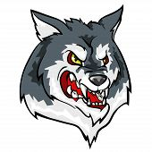 picture of white wolf  - Wolf mascot - JPG