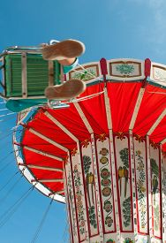 picture of merry-go-round  - Colorful merry - JPG