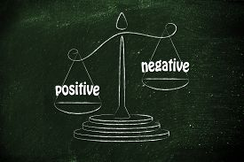picture of pro-life  - pros versus cons metaphor of balance measuring the positive and the negative - JPG