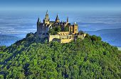 A photography of the beautiful castle Hohenzollern in Germany