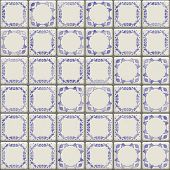 seamless Delft tiles texture