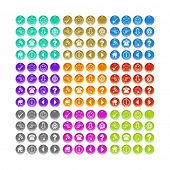 A button set for your website in different colors