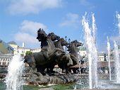 Horses, A Fountain