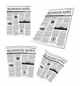vector business newspaper