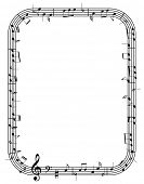 vector music notes frame