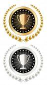 vector trophy cup emblem