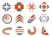 pic of scroll design  - vector abstract design elements set - JPG