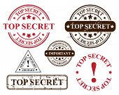 vector stamp template - top secret
