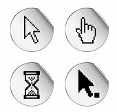 Aufkleber mit Pixel-Cursor-Symbol