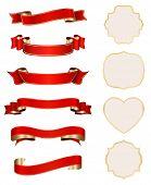 rot-goldene Bänder mit reich verzierten Karten