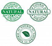 stamp template - natural