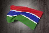 Постер, плакат: Gambia Flag Waving