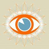 Vector de diseño del ojo.