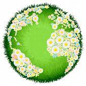 Concepto de globo flor floral