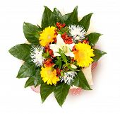 beautiful bouquet of flowers, isolated