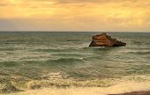 beautiful ocean, seacape, sky and water