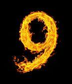 9 (nine), fire figure