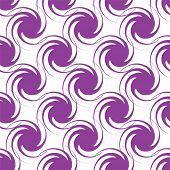 Abstract swirling design in purple that seamlessly repeats and is ideal as a background or desktop