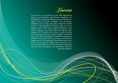 Abstract background in different shades of green with copy space