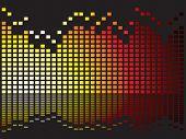 Graphical equaliser illustration ideal as a background or desktop