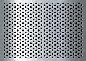 Plata Resumen Antecedentes de metal con agujeros y reflexión de la luz