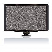 Moderno monitor de la computadora del LCD TV o televisión con estática