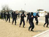 Masked Gendarmes Training