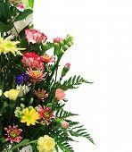 Floral arrangement with copyspace for text.