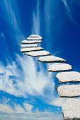 Stone pathway leading to heaven