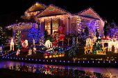 foto of christmas lights  - Beautiful Christmas lights display - JPG